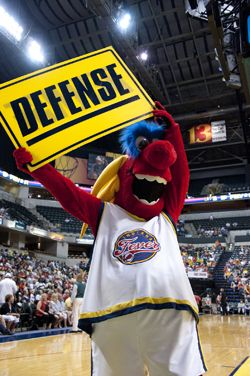 One of the top mascots in the WNBA, Freddy can be seen throughout Bankers Life Fieldhouse before, during and after Fever games.