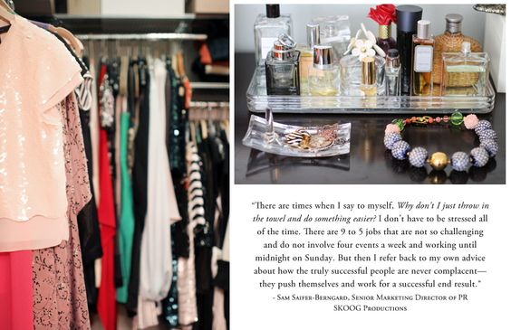 closet and baubles of Sam Saifer-Berngard, Chicago, IL