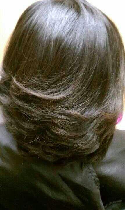 My natural hair. No relaxers.