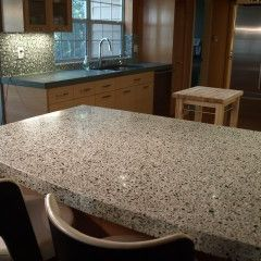 Concrete With Glass Aggregate For A Terrazzo Look