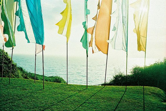 festival wedding flags by phoenixlily, via Flickr