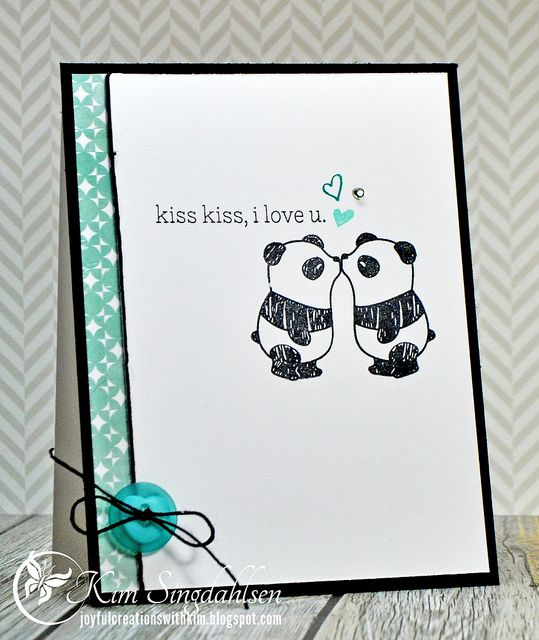 Kiss Kiss from Joyful Creations with Kim using stamps by Mama Elephant.