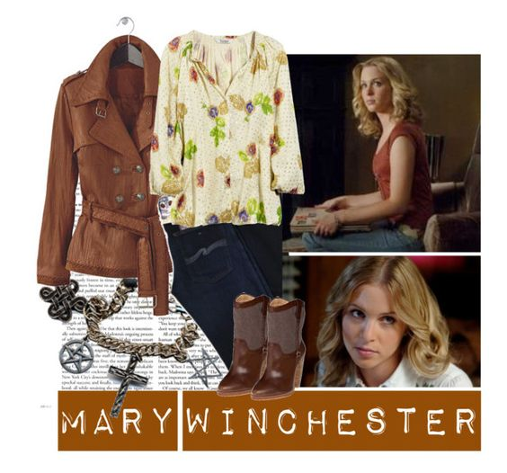 """SPN: Mary Winchester"" by old-soul-92 ❤ liked on Polyvore featuring Jeffrey Campbell, Tucker, mary, winchester and supernatural"