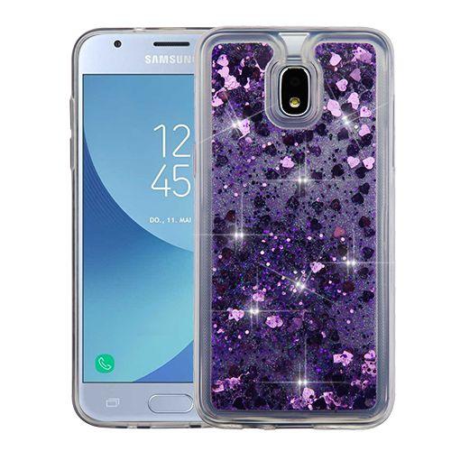 Samsung Galaxy J3 2018 Hearts Purple Quicksand Glitter Hybrid Protector Cover In 2021 Samsung Galaxy J3 Galaxy J3 Samsung Galaxy