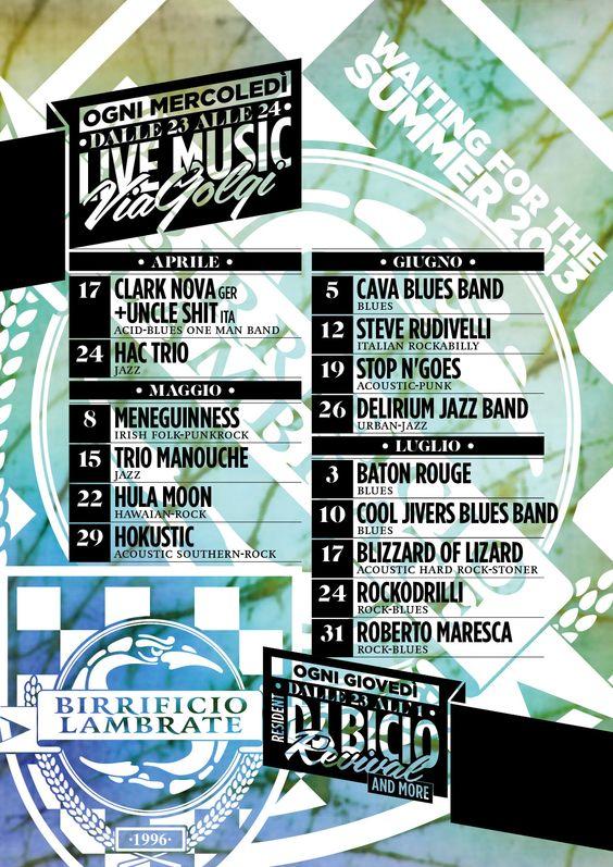 Concerti Live in Via Golgi 60!