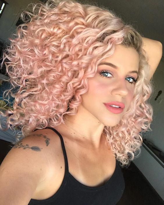 In 2020 Curly Hair Styles Naturally Short Curly Haircuts Dyed Curly Hair