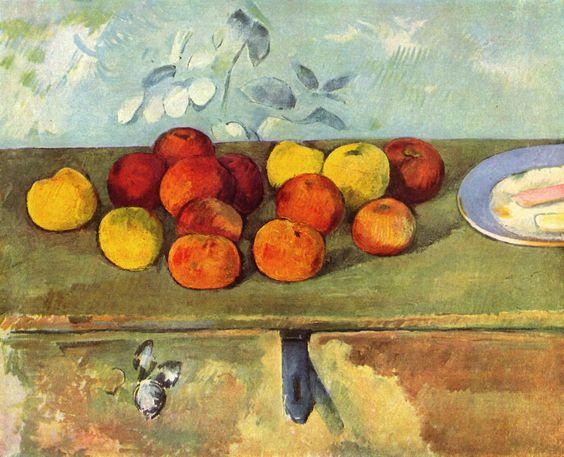 Paul Cézanne: Stilleben mit Äpfeln und Gebäck