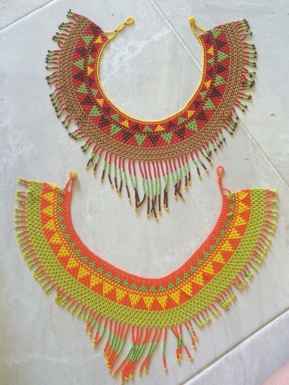THE NATIVO NECKLACE 2 Colorful Hand-beaded by PACHATRIBUcollective