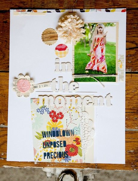 Scrapbooking with florals on the Two Peas blog.