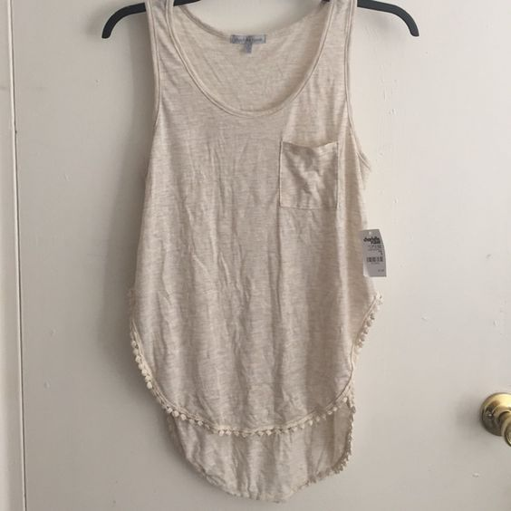 Tan shirt Long from the back and short from the bottom Charlotte Russe Tops Tank Tops