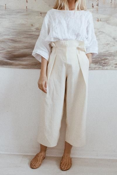 Cream Trousers:
