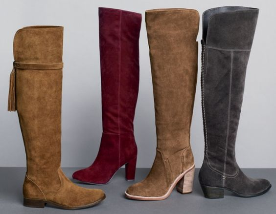 lovely styles of over-the-knee boots