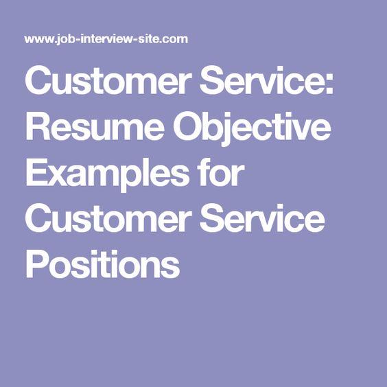 Example of customer service resume