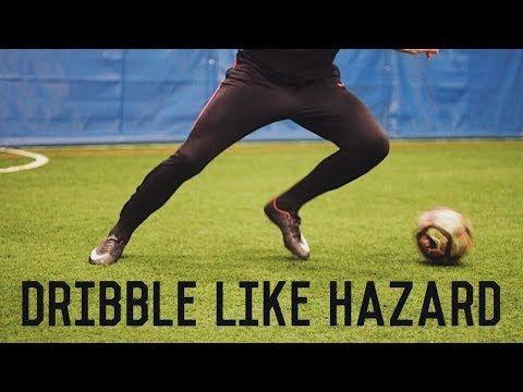 How To Dribble Like Eden Hazard 5 Easy Dribbling Moves Tutorial Youtube Soccer Dribbling Drills Soccer Workouts Soccer Footwork Drills
