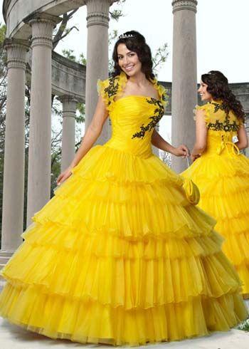 Tu Vestido de 15 Años: Vestidos de 15 en Color Amarillo.