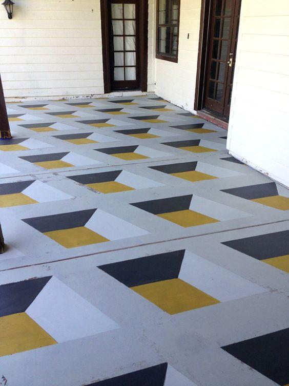 Diy Geometric Cube Floors Create Pinterest Paint