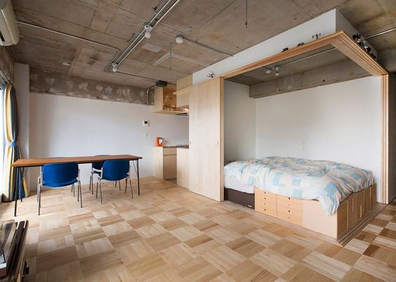 Yuichi Yoshida re-zone apartment to section off sleeping space