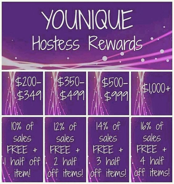 Want free and 1/2 price makeup? Let's get a party started for you!!! Best hostess rewards ever!! Www.yourbeyouty.com #youniue #rewards