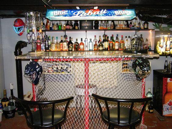 hockey themed bar