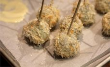 Cake pops made with xmas pudding but see other pin for decorating