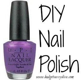 how to make nail polish using eye shadow