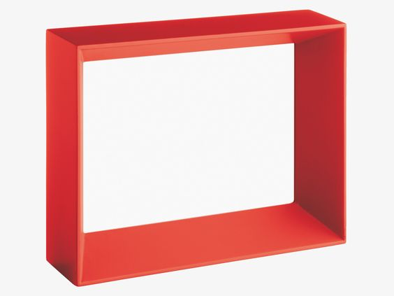 KATRE REDS Wood 13 x 18cm red photo frame - Photo Frames- HabitatUK