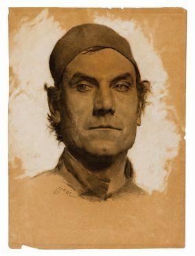 Cesare Ciani  (Firenze, 1854 - 1925) : Ritratto virile.  - Asta STAMPE E DISEGNI DAL XVI AL XX SECOLO - Libreria Antiquaria Gonnelli - Casa d'Aste - Gonnelli Casa d'Aste