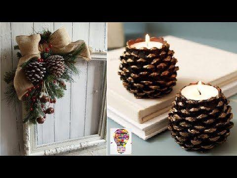 8 Niesamowite Pomysly Na Ozdoby I Dekoracje Z Szyszek 2 Youtube Rustic Christmas Ornaments Origami Christmas Ornament Christmas Decorations Ornaments