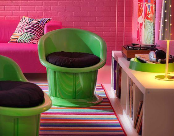 Wohnzimmer Grun Pink grn farbideen wandgestaltung rosa wandfarbe Ikea Sterreich Inspiration Wohnzimmer Pink Grn Polstersessel Popptorp Tischleuchte Tallvik