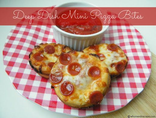 Deep Dish Mini Pizza Bites Recipe on Yummly