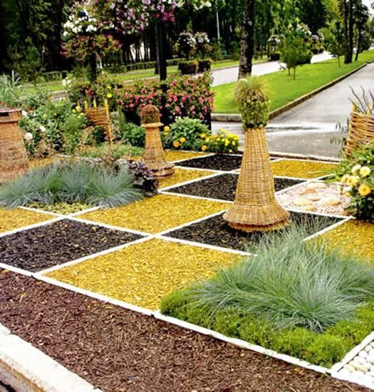 Yard landscaping landscaping and landscaping ideas on for Unique garden border ideas