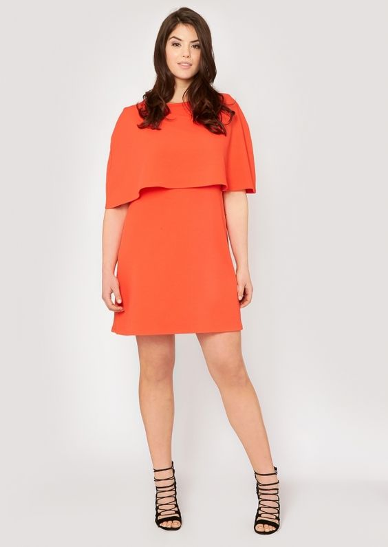 Plus Size Sally Cape Shift Dress