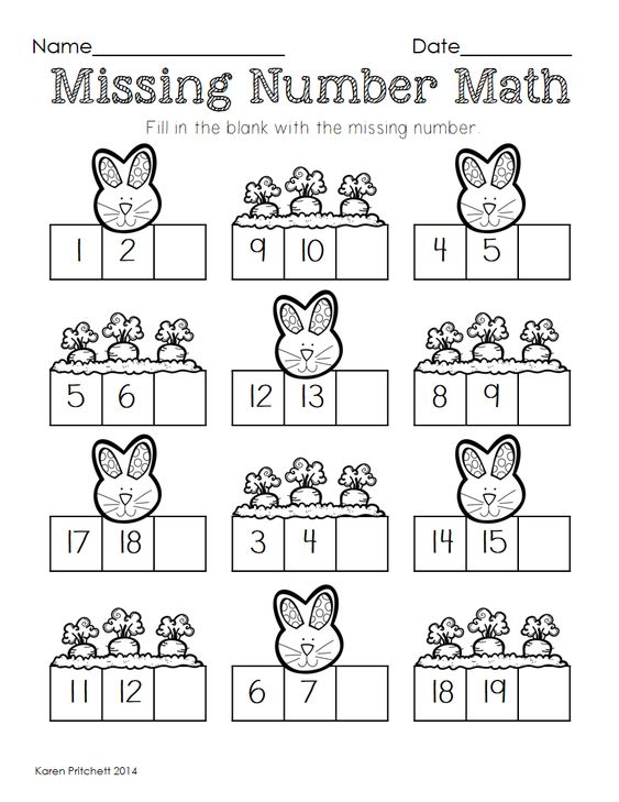 Easter Math graphing missing number counting on and ten frames – Math Missing Number Worksheets