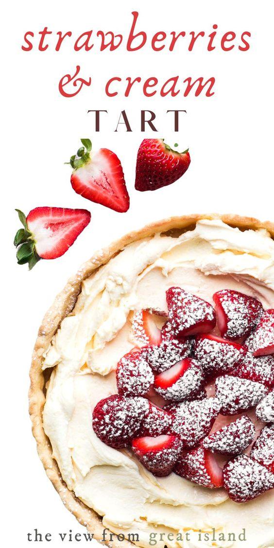 Strawberries & Cream Tart!