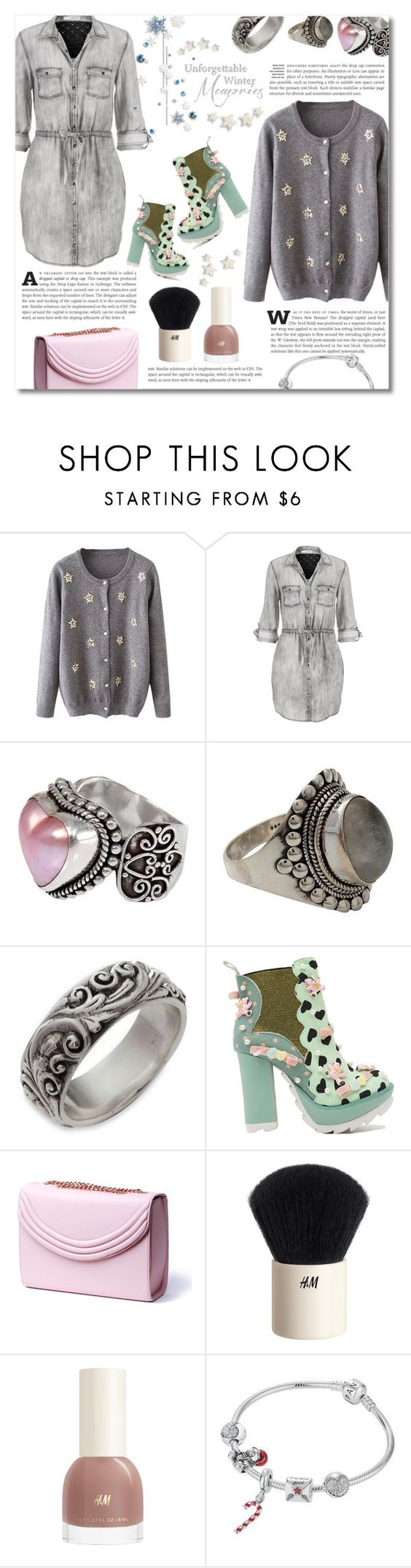 """""""Winter cardigan"""" by dolly-valkyrie ❤ liked on Polyvore featuring maurices, NOVICA, Irregular Choice, Lauren Cecchi and H&M"""