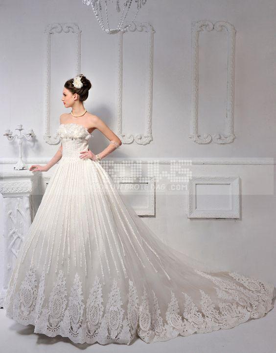 http://www.trouws.com/trouwjurken-c1 Koreaanse stijl van de luxe zoete prinses Bra paragraaf hand drill + grote staart trouwjurk - €426.62 , Trouws.com