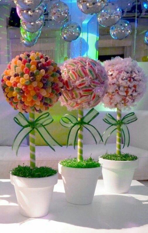 Centro De Mesa Fiesta De Dulces O Infantil Candy Trees Candy Party Candyland Party