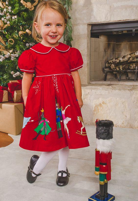 Nutcracker Red Short Sleeve Dress