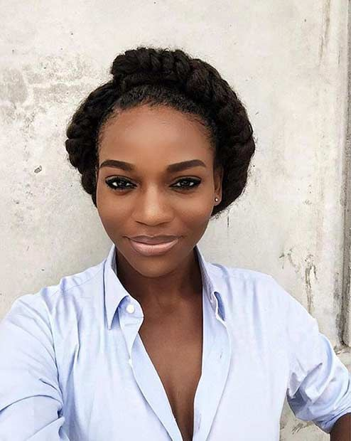 Flat Twist Crown Updo