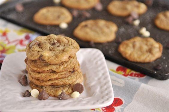 Triple Chocolate Chip Malt Cookies with Sea Salt