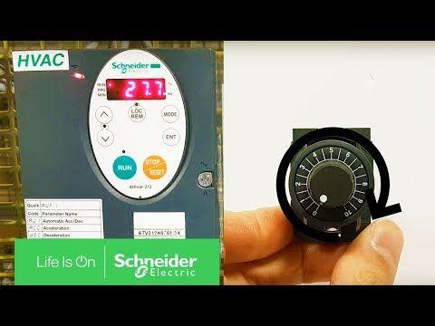 Tuto Comment Utiliser Un Potentiometre Avec Un Altivar Atv212 Schneider Electric France Infowebenvironnement Tuto France