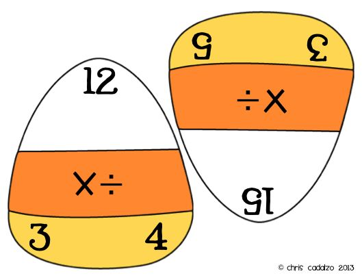 Candy Corn Fact Triangles Multiplication and Division – Fact Triangles Multiplication and Division Worksheets