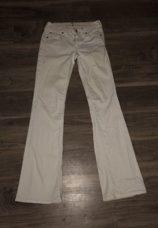 Womens 7 For All Mankind White Jean Pants By Jerome Dahan For