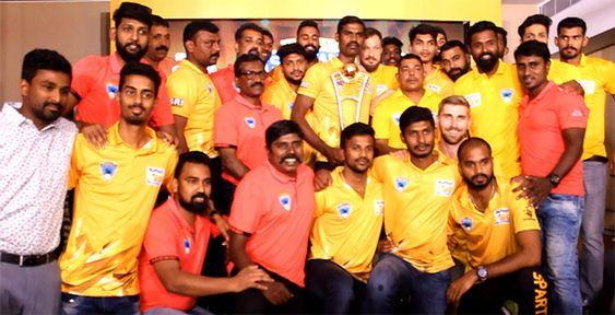Chennai Spartans Volleyball Team Celebration