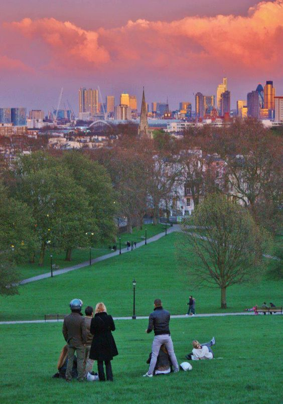 Primrose Hill, Camden, just north of Central London. Beautiful Park with an amazing view of London. A wonderful place for a picnic. :)