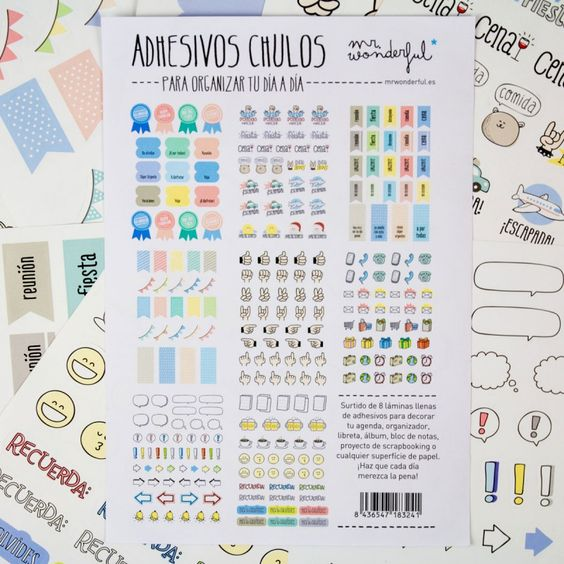 Stickers para imprimir para decorar mi agenda buscar con for Pegatinas para decorar