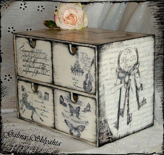 Tranfer en madera apunta ideas para usarlo cajas de - Cajas de almacenaje decorativas ...