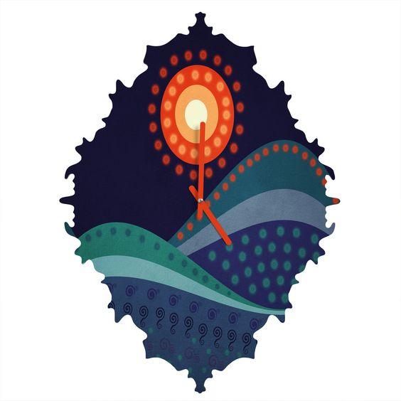 Viviana Gonzalez Summer Night Baroque Clock | DENY Designs Home Accessories