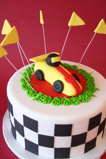 boy birthday cake race cars - Google Search