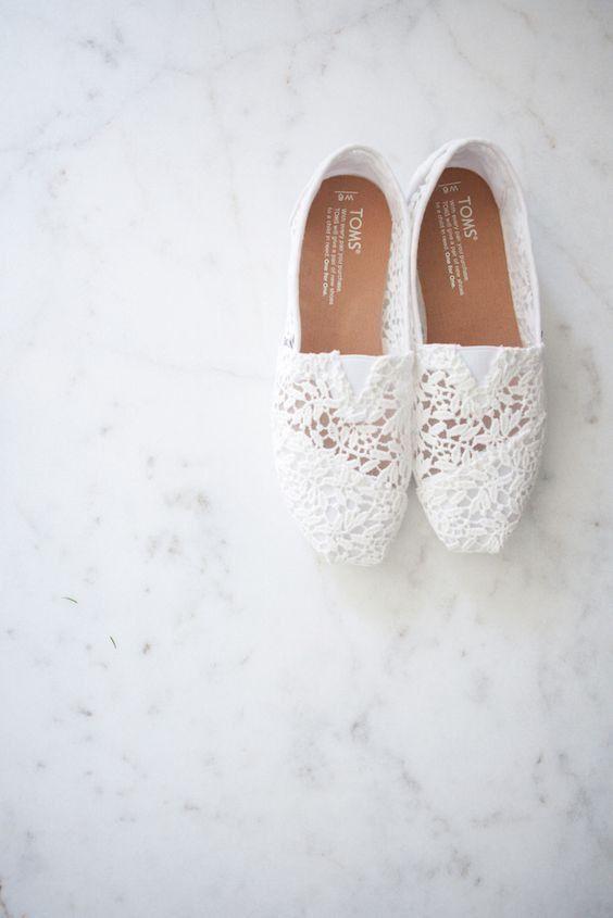 Toms Crochet Classic Slip On Shoe Wedding Sneakers Wedding